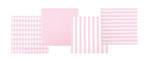 (JaBaDaBaDo lightpink Pink 20pieza (S)–Papierserviette (Pink, Papier, Bedruckt, 160mm, 16cm, 160mm)