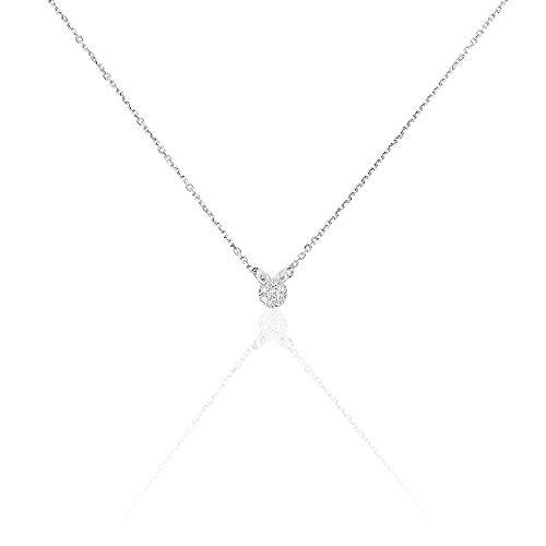 You.Me.We. - Halskette aus Gold mit Diamanten - Doppel Forcat - Damenschmuck (Imitation Diamant-halskette)
