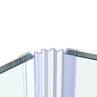 Duschdichtung Ersatzdichtung Wasserabweiser Länge 40 cm bis 200 cm Stärke 6 mm, 8 mm, 10 mm VA006M, Dichtung Länge:140 cm, Glas Stärke:6 mm