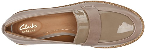 Clarks Womens Glick Avalee Flat Light Grey Combo