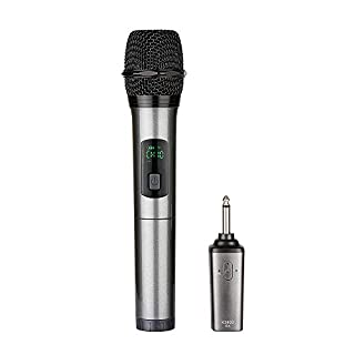 Wireless Microphone bluetooth,ARCHEER Handheld Dynamic Karaoke Microphone Wireless mic System UHF with Receiver ,for Church/Home/Karaoke/Business Meeting
