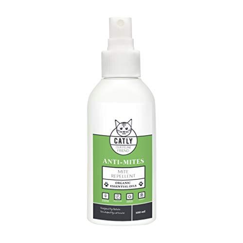Natürliche Milbenabwehr für Katzen von CATLY I Anti-Mites 100 ml I Bio & vegan I Mit ätherischen Ölen I Anti-milben Spray für Katzen I Milbennvertreiben, NICHT TÖTEN! I Umweltfreundlich