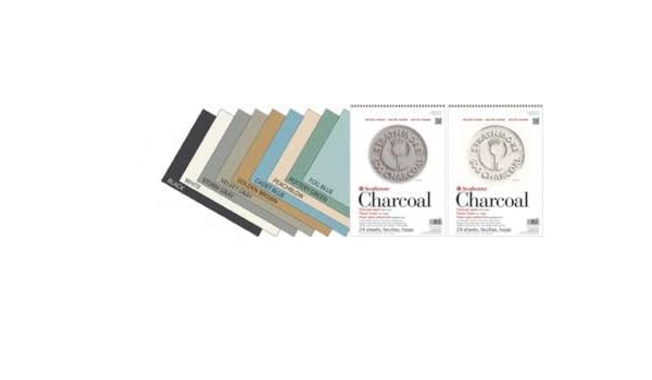 Assorted Tints- Fog Blue Storm Grey Cadet Blue Velvet Grey 100/% Cotton Fibre with Laid finish to Provide the Precise Contro White /& Black Pottery Green,Peachblow Golden Brown Charcoal Pad 500 Series 24 Sheet Pad 9x12 95Gsm Wire Bound Strathmore