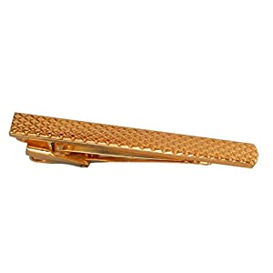 magdalena r. Krawattenklammer Krawattennadel 5,4 cm kurz vergoldet glänzend inkl. Geschenkbox