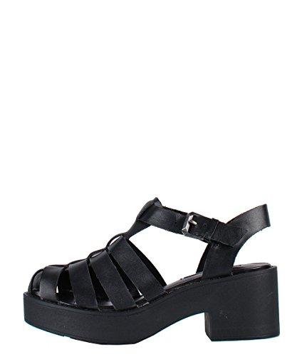 Windsor Smith Lily Black Sandal - Sandali Neri Con Fasce
