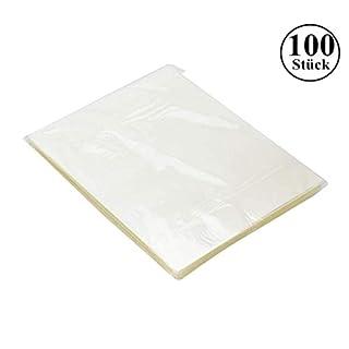 100 Stück Laminierfolien, DIN A4 80 mic Laminierfolie, 9 x 11.5 Zoll(229 x 292 mm) Laminating Pouches, Wasserdicht, Unzerbrechlich und Glänzend, Ideal für Dokumente, Fotos oder Karten