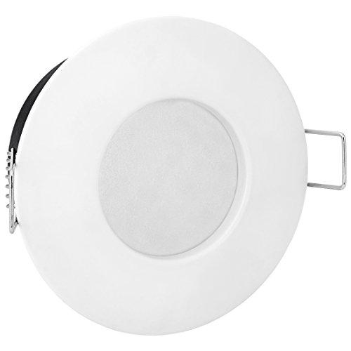 LED Einbau-Strahler Set [6 Stück] Decken-Leuchte, Typ RW-1 in weiß für Feuchträume Bad Dusche IP65, 6W WARM-weiß 230V [IHR VORTEIL: leichter EINBAU, tolle LEUCHTKRAFT, LICHTQUALITÄT und VERARBEITUNG] für Innen Außen – #980 - 4