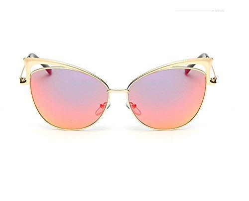 Generic Cat Eye Sunglasses Women Summer Syle Metal Brand Designer Vintage-color7