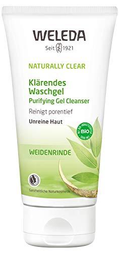 WELEDA Naturally Clear Klärendes Waschgel, Naturkosmetik bei Pickeln und unreiner Haut, Gesichtsreinigung und Gesichtspflege für die Mischhaut, bekämpft Hautunreinheiten (1 x 100 ml) - Weleda Gesichtswasser
