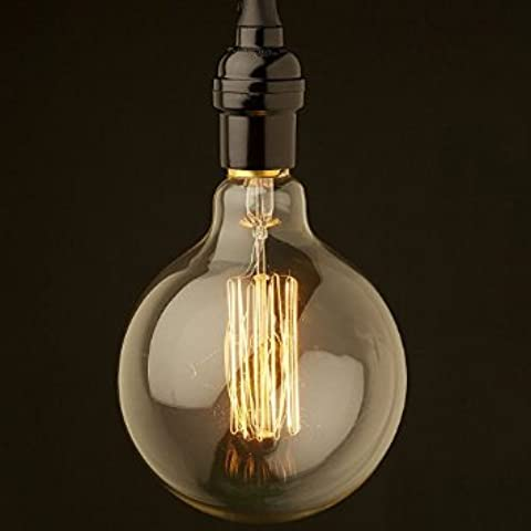 OyxLED 1x E27, 40W Screw Vintage Bombilla de filamento incandescente globo Retro Old Fashioned Edison Lámpara 220V [Clase energética A