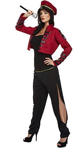 (Damen Pop Star Berühmt Promi Cheryl Cole 1990s Kostüm Kleid Outfit - Rot, One Size fits UK 10-14)