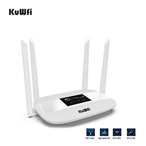 Router wi-fi lte 300mbps 4g, router wireless cpe sbloccato 4g con slot per sim card con antenna per la maggior parte delle aziende europee con 3 / ee / o2 / vodafone share 32 utenti router wifi 4g