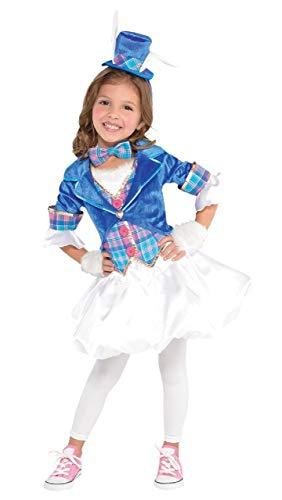 (Fancy Me Mädchen Teen süß Hatter verrückt Teeparty Alice im Wunderland Welttag des buches-Tage-Woche TV Buch Film Kostüm Kleid Outfit 6-14 Jahre - 6-8 Years)
