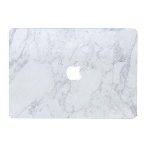 AQYLQ MacBook Schutzhülle/Hard Case Cover Laptop Hülle [Für MacBook Air 13 Zoll: A1369/A1466], Ultradünne Matt Plastik Hartschale Schutzhülle, DLB weißer Marmor Hard Case Cover