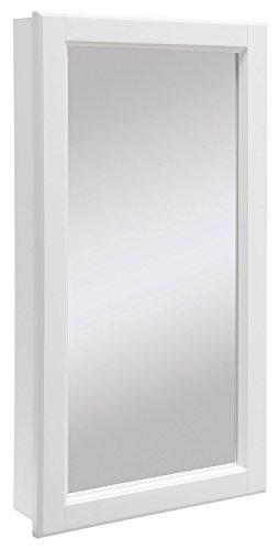 Design House 545111Wyndham weiß seidenmatt Medizinschrank Spiegel mit 1und 2Regalböden, 41cm Breite, 76cm hoch, 4.75-inches Tiefe ('w-badezimmer-eitelkeit)