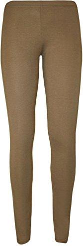 Unknown - Legging - Skinny - Femme Multicolore Bigarré Taille Unique Marron - Moka