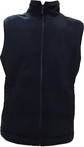 Polar Fleece Vest Ladies Mens Full Zip New Size XS S M L XL XXL XXXL 4XL (M, NAVY)