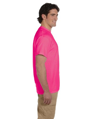 Fruit of the Loom s Men'Short Sleeve Crew Tee Rosa - Retro Heather Pink