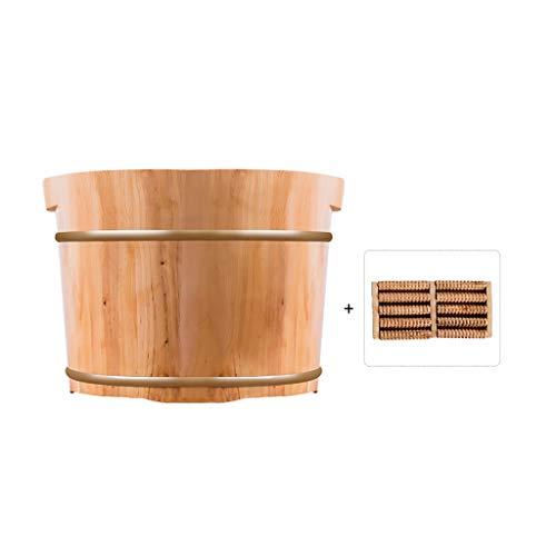 Sauna Eimer,aus Massives Holz Fußbadekübel,Fußmassage Saunakübel,Haushalt Hochwertiges Sauna Zubehör Aufgusseimer (Color : B)