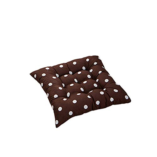 collectsound Weich Polka Dot massiver Sitz aus Pad Travel Home Office Decor Krawatte auf Stuhl Kissen, 2-Coffee Polka Dot★Home Sofa Cushion Decoration -