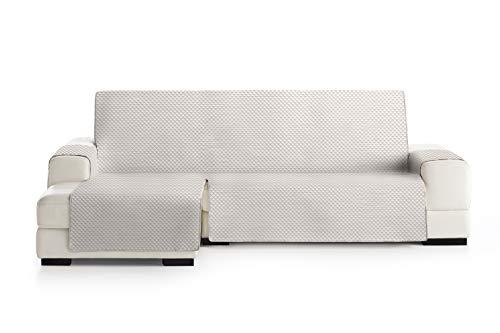 Eysa oslo salva, microfiber, c/0 greggio-visone, penisola 240 cm. adatto per divani da 250 a 300 cm