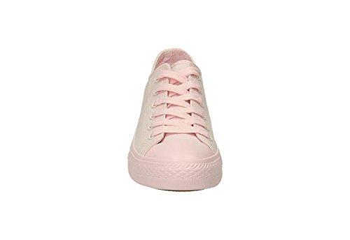Jumex Uni Sneaker Turnschuhe Schnürschuhe Worker Chunk 36-41 Weiß Rosa Blau Rosa