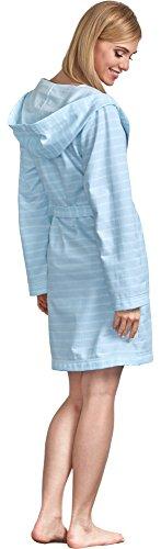 L&L Damen Bademantel LL0005 Blau
