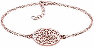 Elli s dicono le donne in argento Sterling 925, placcato oro rosa, motivo: acchiappasogni, lunghezza 17 cm