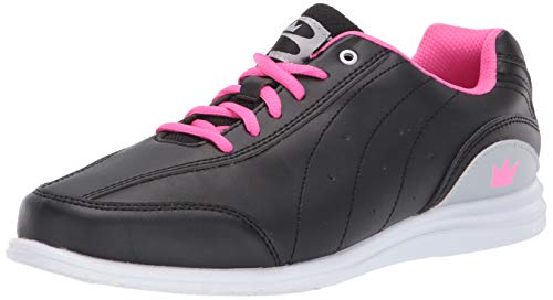 Brunswick Mystic Damen Bowlingschuhe diversen Farben, schwarz/pink und weiß/Marineblau (38.5 EU, Black/Pink)