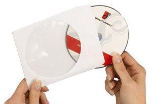 Avery Ref SL1760-100, Confezione 100 Bustine per CD/DVD 126x126 mm, colore: Bianco