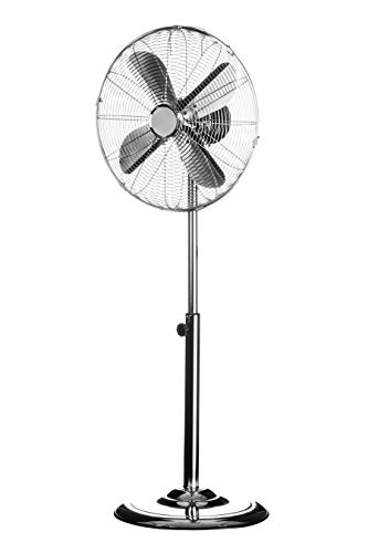 Premier Housewares Floor Standing Fan with 3 Speeds/ Oscillation, Chrome/ Silver by Premier Housewares (Floor Standing Fan)