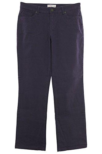 Gabardine Stretch Hose (sheego Jeans Hose Pants Die Gerade Damen Stretch Gabardine Plusgröße Kurzgröße, Farbe:lila;Damengrößen:22)