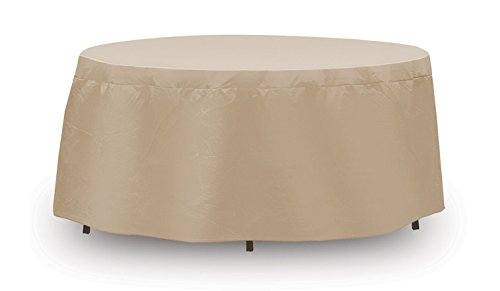 PROTECTIVE COVERS INC Patio Table Cover, Tan Vinyl, 54-In. Diameter Covers 48 - 54-In. Round Table
