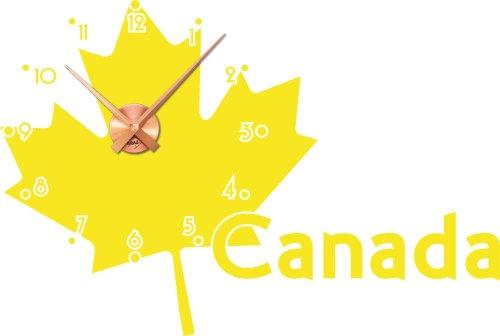 adesivo-da-parete-con-orologio-canada-mappa-022-shell-yellow-copper-clock