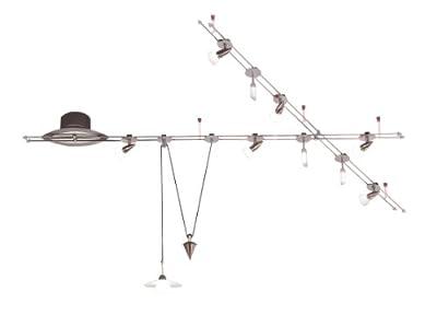 Wofi Schienensystem-Tangens, 10-flammig , Nickel-matt , Länge: 400 cm, 9158.10.64.0100 von WOFI LEUCHTEN bei Lampenhans.de