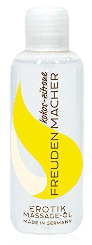ORION Massageöl Freudenmacher 100 ml - Liebesöl für Paare mit Jojaba- und Mandelöl, Erotiköl mit Kokos und Zitronen Duft