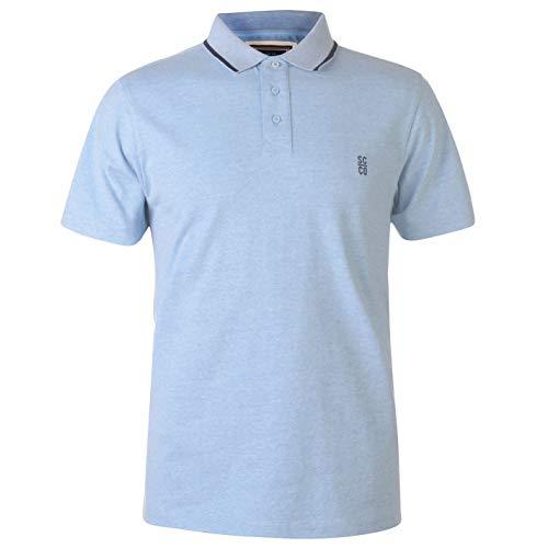 Kragen Signatur Polo (SoulCal Herren Signatur Polo Shirt Klassisch Fit Baumwolle Sky Marl M)