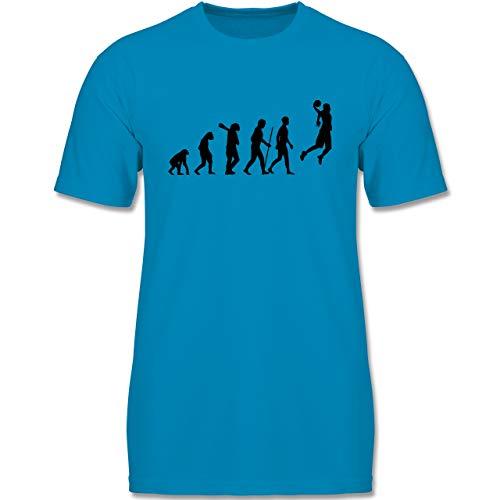 Evolution Kind - Basketball Evolution - 152-164 (12-14 Jahre) - Azurblau - F140K - Jungen T-Shirt