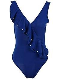 f9b8f2c9a88906 Costume da Bagno Donna A Top Costume con V Scollo Abbigliamento Festivo  Abbigliamento Festivo da Bagno