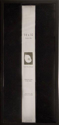 14x32 Shadow Box, Showcase Series (Black) by Frame USA - Serie Black Frame