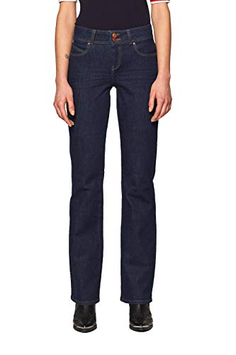ESPRIT Damen Bootcut Jeans 019EE1B001 Blau (Blue Rinse 900), W29/L32