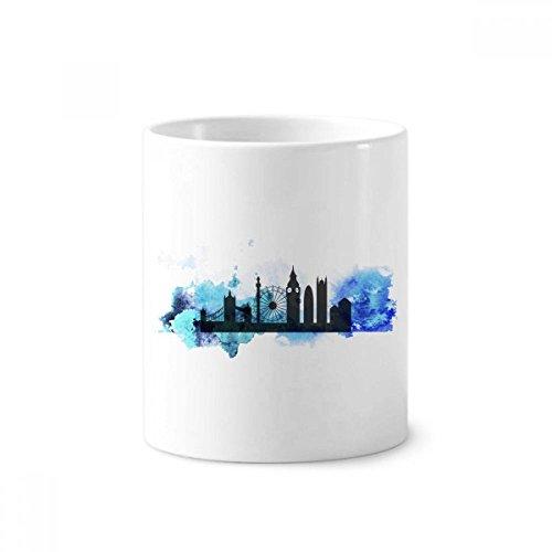 London Tower Bridge Silhouette England Keramik Zahnbürste Stifthalter Becher weiß Tasse 350ml Geschenk Bridge-becher