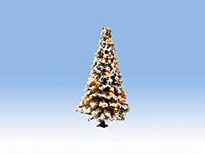 NOCH 22120 - Árbol de Navidad con 20 ledes, 8 cm de Alto, diseño de Nieve, Color Blanco