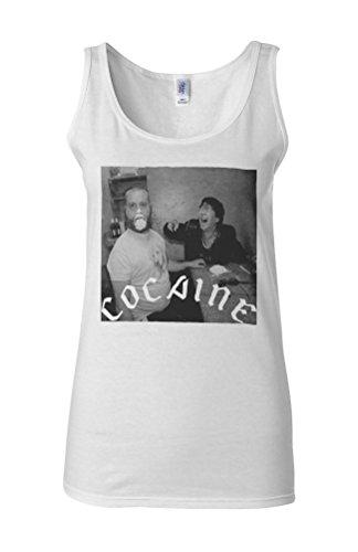 Cocaine Drug High Friends Funny Novelty White Femme Women Tricot de Corps Tank Top Vest **Blanc