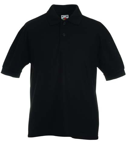 Fruite of the Loom Kinder Polo-Shirt, vers. Farben 140,Schwarz