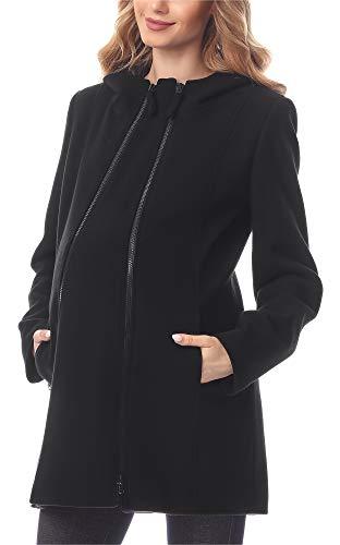 Umstandsjacke Mantel aus Wolle mit Einsatz
