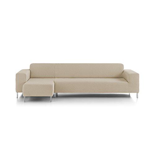Eiffel Textile Nîmes Chaise Longue Schutzhülle Sofa Langen Arm Links 280 x 195 x 2 cm Elfenbein -