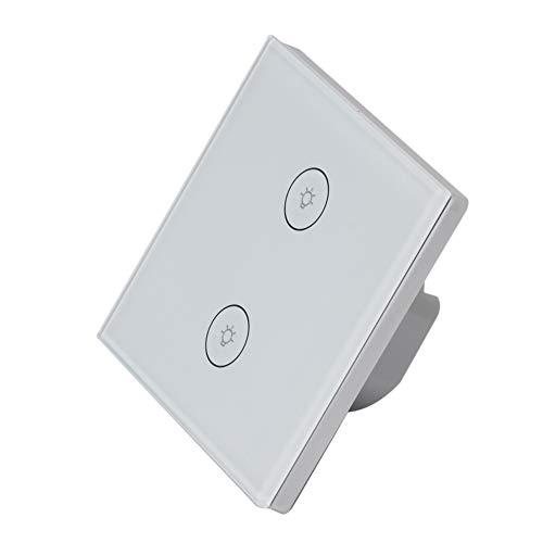 110-240V Smart Light Switch Compatibile, Lexa, Google Home, Controllo Intelligente IFTTT, per Controllare luci Normali, domotica e Controllo vocale,White,1pack