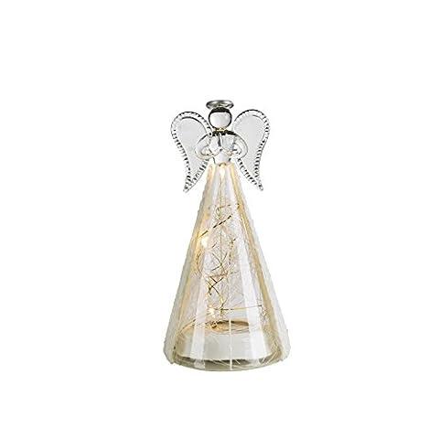 Ange en verre DEL blanc luminaire décoration Noel lampe LED espace intérieur chambre