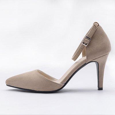 Zapatos De Tacón Alto Flyrcx Otoño E Invierno Moda Mujer Talón C